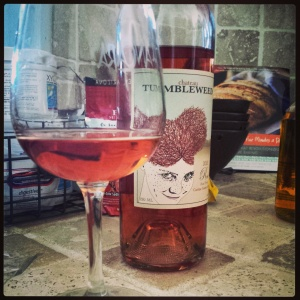 Chateau Tumbleweed 2013 Rosé. She watches you sleep.