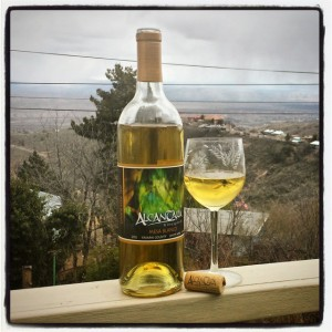 Mesa Blanco, from Alcantara Vineyards, on a dramatic winter day, shining like summer.