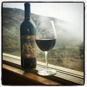 2013 Malbec from Jerome Winery. Today, it should be called the Misty Mountain Malbec