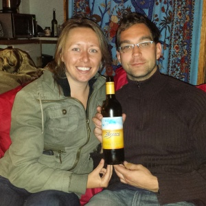 Shannon and Robert, with Zarpara Viognier