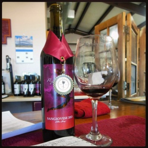 2013 Sangiovese from Flying Leap Vineyards and Distillery