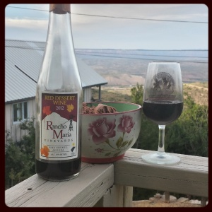 2012 Rancho Maria Red Dessert wine... and ice cream.