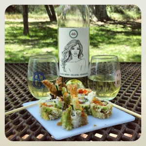 2013 Été blend, and Sushi. A perfect pairing