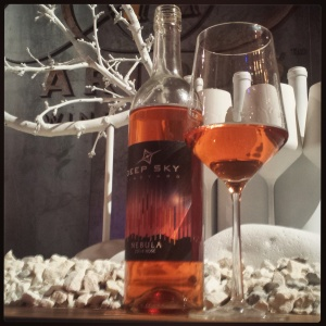 Deep Sky Vineyards 2014 Nebula Rosé, which is decidedly nebula colored. Or Aurora-colored.