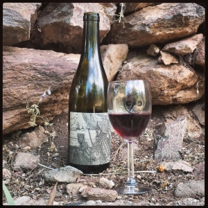 The 2013 Grenache from Rune amidst the ruins of Old Jerome.