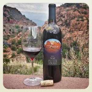 2011 Petite Sirah from Freitas Vineyards, overlooking the Verde Valley.