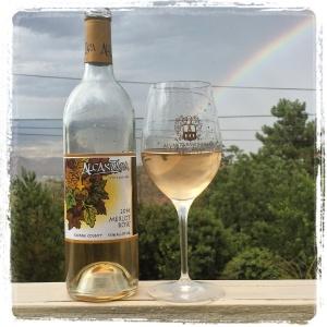 2014 Merlot Rosé and rainbow.