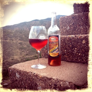 2014 Incanto blend, on some random stairs in Jerome, looking towards Mingus Mountain