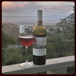 2011 Rosé Fonce. Dark against the Jerome Sunset
